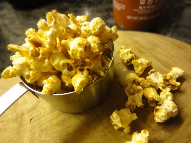 Sriracha and lime popcorn