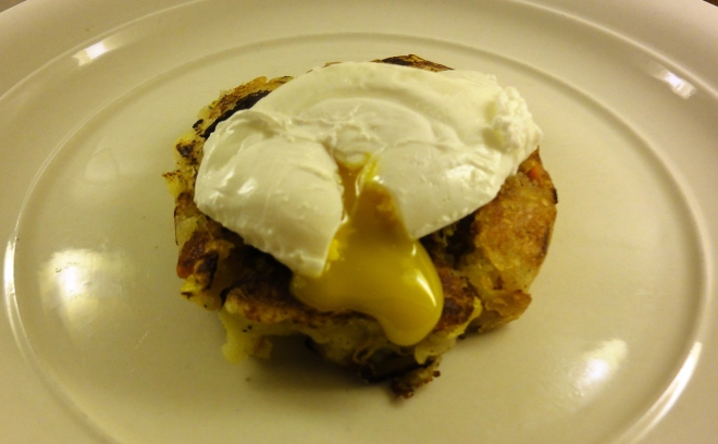 Bubble and squeak (with poached egg)