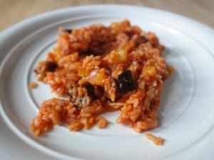 Savoury rice (with sausage)